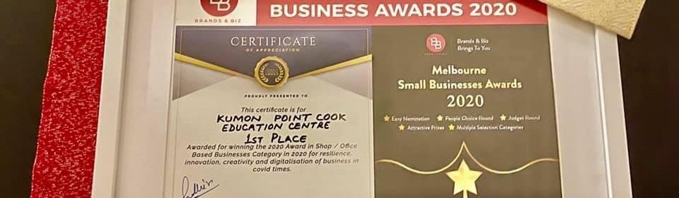 Winner of the Melbourne Small Business Award 2020
